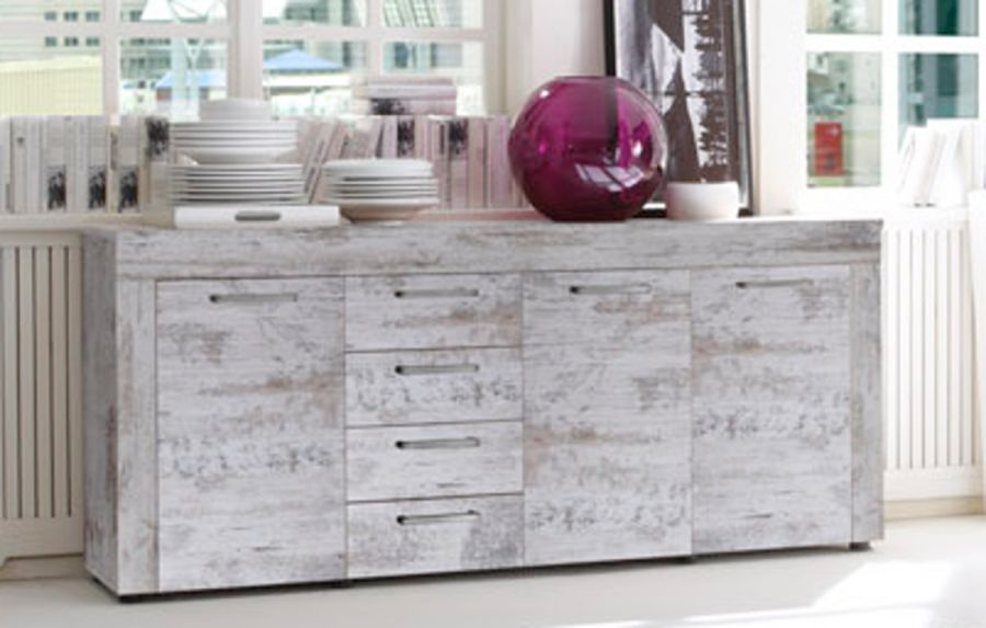 Sideboard Canyon Pine white Shabby Chic Look ...