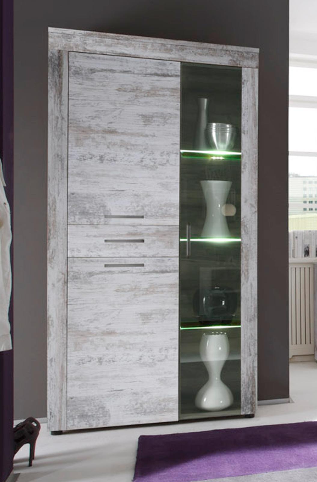vitrine highboard canyon pine im shabby chic look. Black Bedroom Furniture Sets. Home Design Ideas
