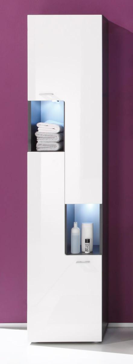 Badmöbel hochschrank  Badschrank Tetis weiß günstig online kaufen