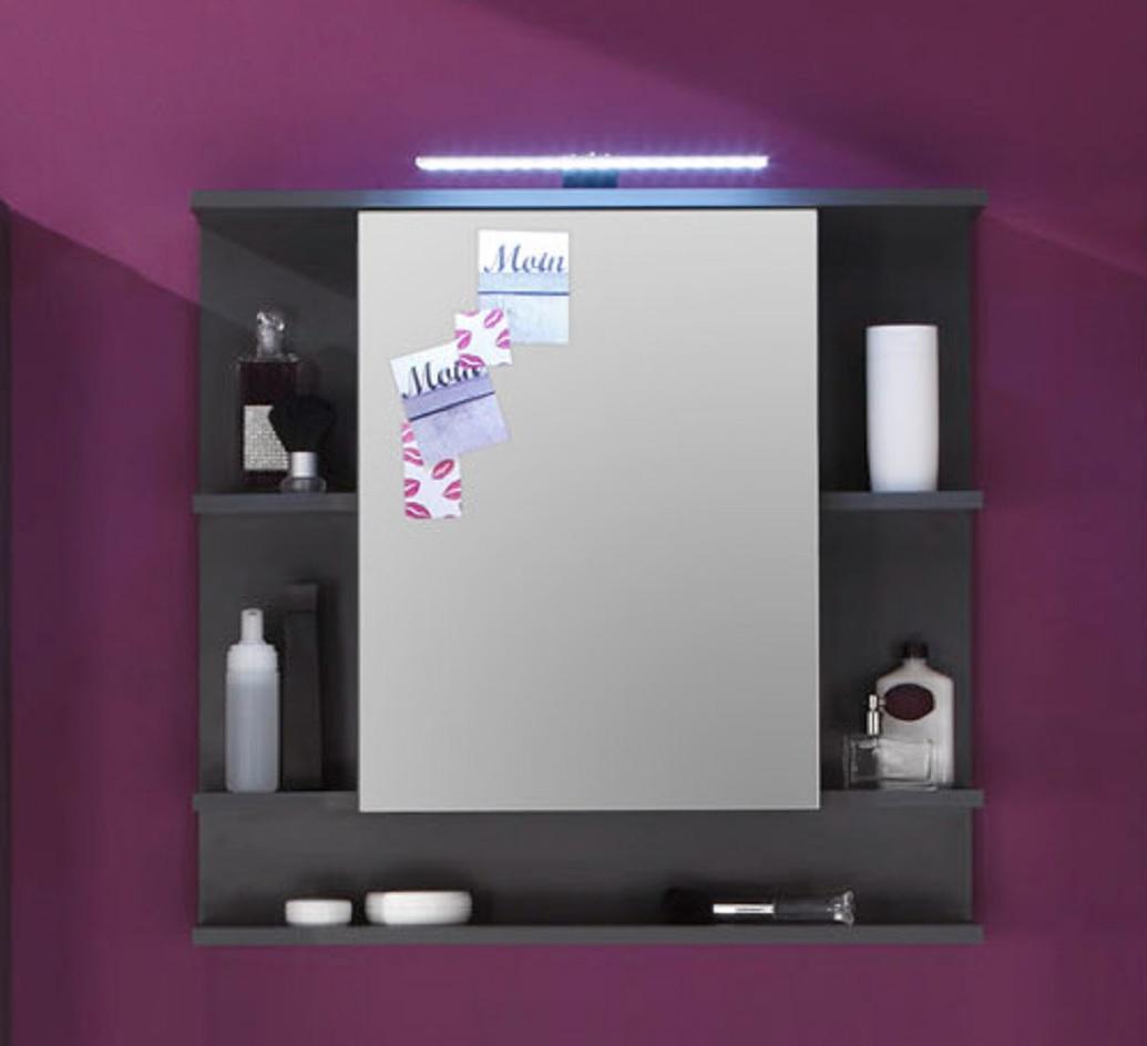 Spiegelschrank mit beleuchtung und ablage  Spiegelschrank Tetis grau günstig online kaufen