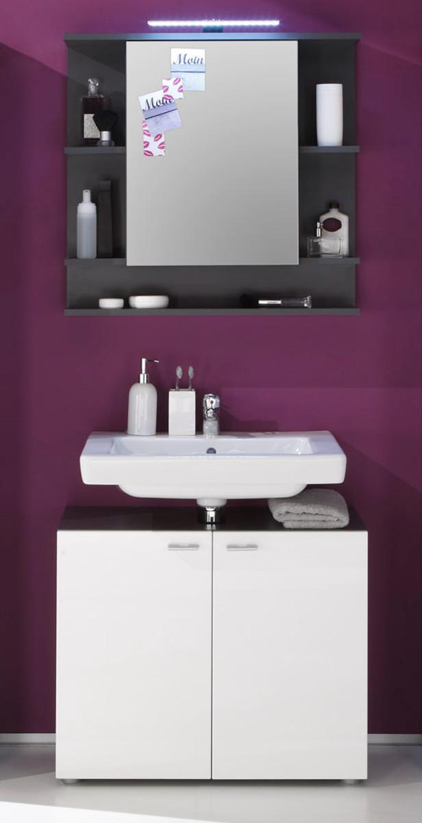 Spiegelschrank tetis grau g nstig online kaufen for Spiegelschrank grau