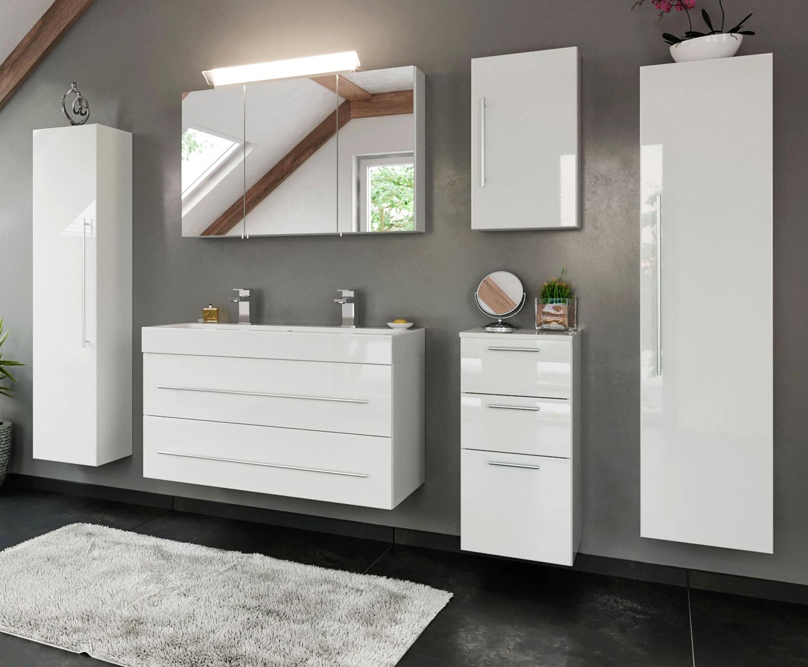 Wohnwände Holz Massiv Modern ~ Wohnwand Eiche Sägerauh  weiß Hochglanz  Designermöbel  moderne