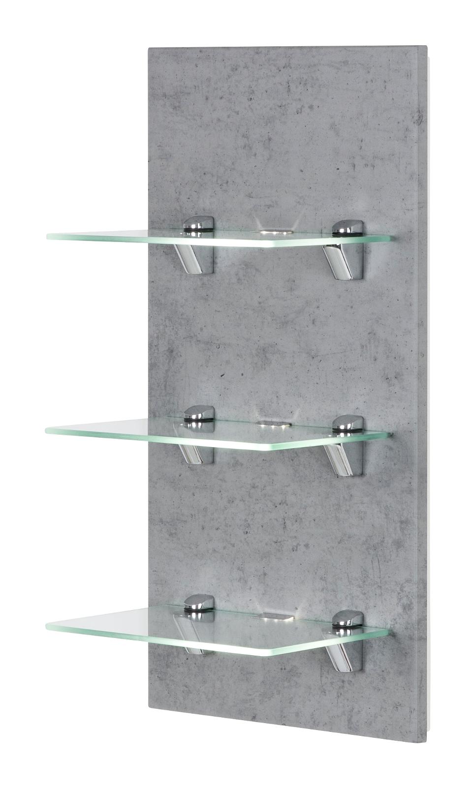 Badezimmer Regal hängend Viva in Stone Design grau Wandregal 20 x 20 cm  Hängeregal