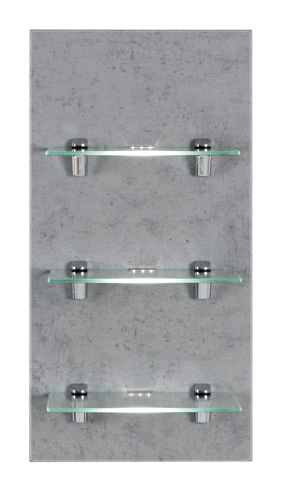 Moderne wohnwand in eiche s gerau mit beleuchtung for Wohnwand aktion