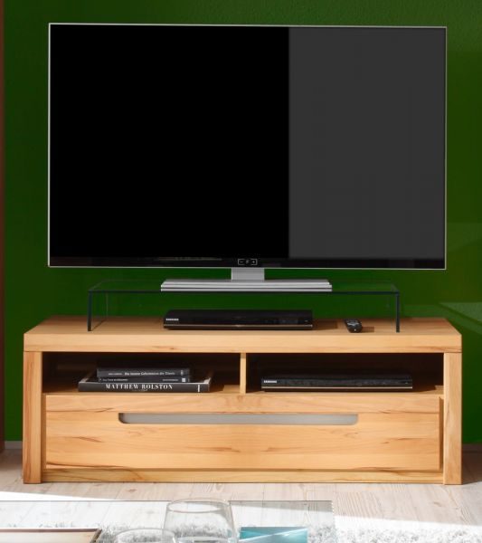 tv board lowboard kern buche massiv fernsehtisch tv tisch hifi zino massivholz ebay. Black Bedroom Furniture Sets. Home Design Ideas