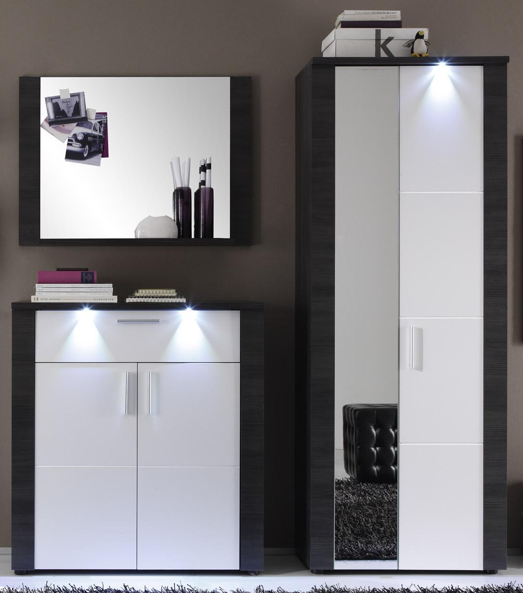 garderobe xpress esche grau wei g nstig kaufen. Black Bedroom Furniture Sets. Home Design Ideas