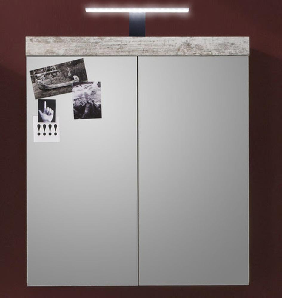 Bad Spiegelschrank In Canyon Pinie Weiß Shabby Chic 72 X 79 Cm Vintage  Badezimmer Cancun