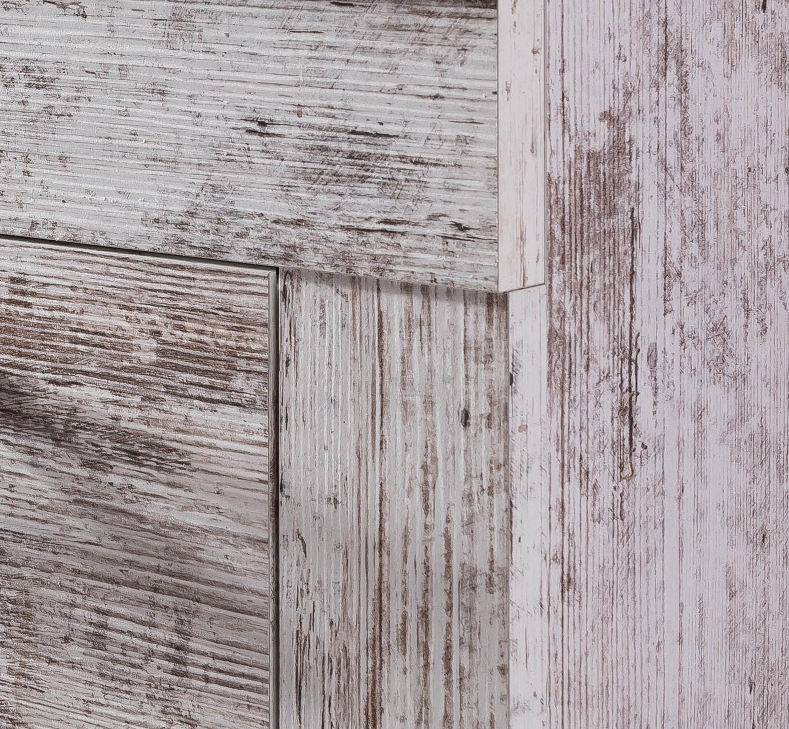 Waschbeckenunterschrank Badmöbel in weiß Pinie Shabby Vintage Bad