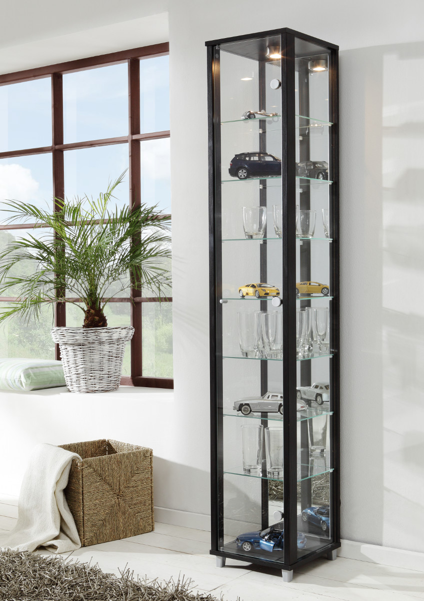 glasvitrine mit beleuchtung gebraucht innenr ume und. Black Bedroom Furniture Sets. Home Design Ideas