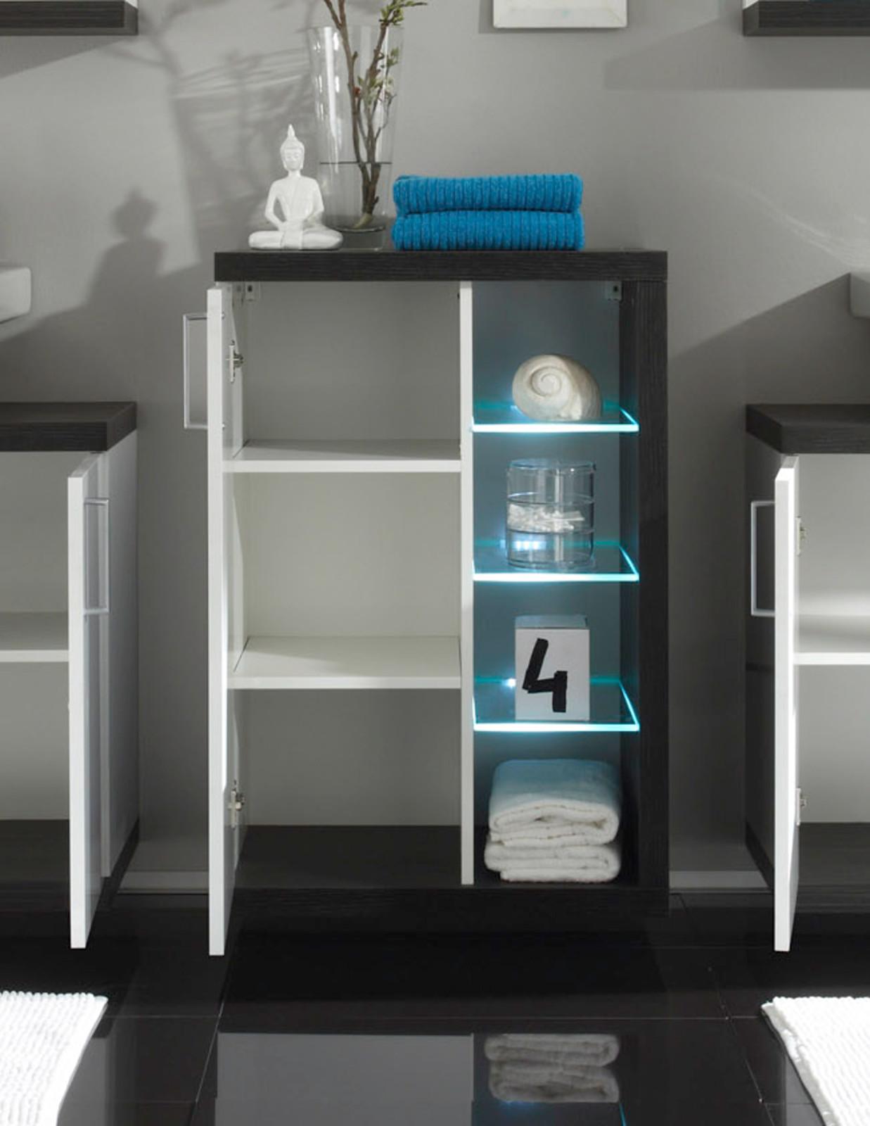Badmöbel hängend  Badmöbel Sunrise Weiß/Silber günstig online kaufen
