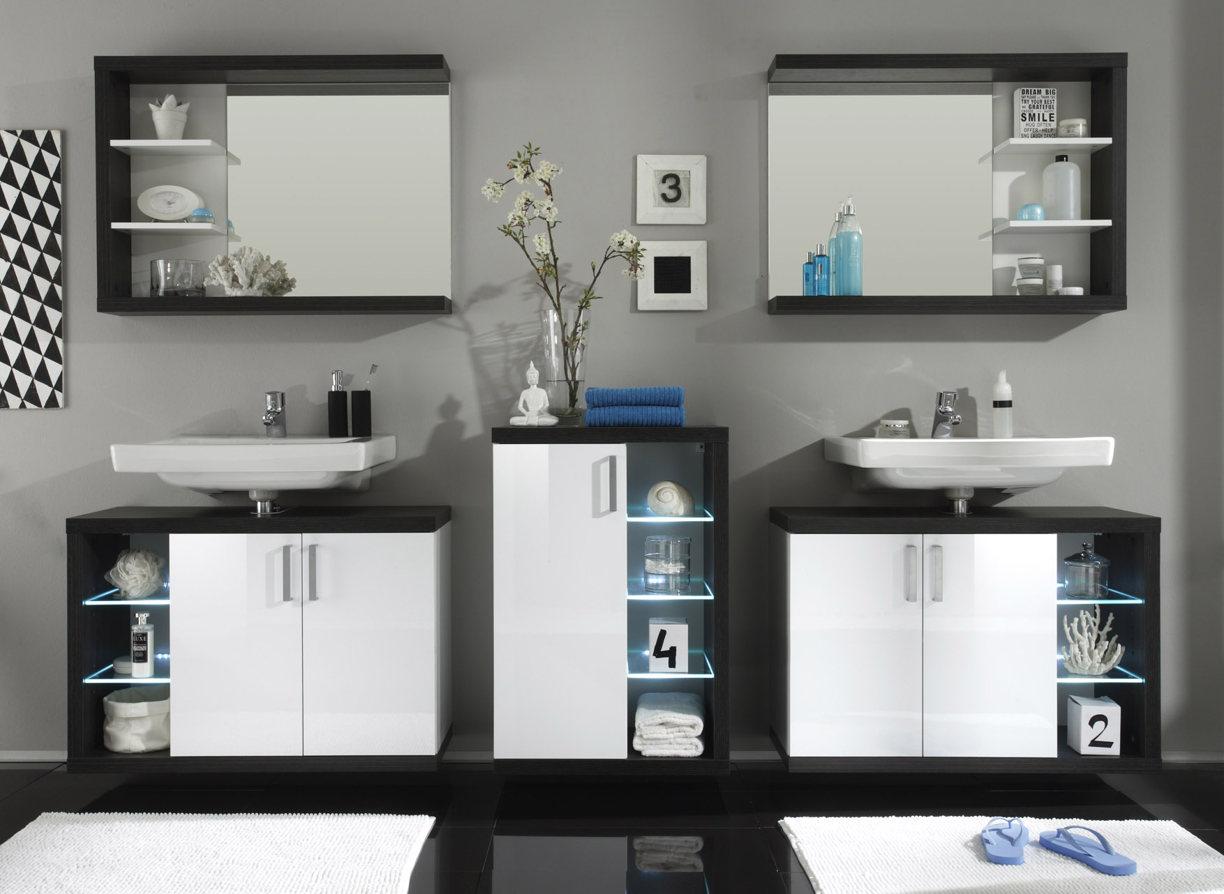 badm bel sunrise wei silber g nstig online kaufen. Black Bedroom Furniture Sets. Home Design Ideas