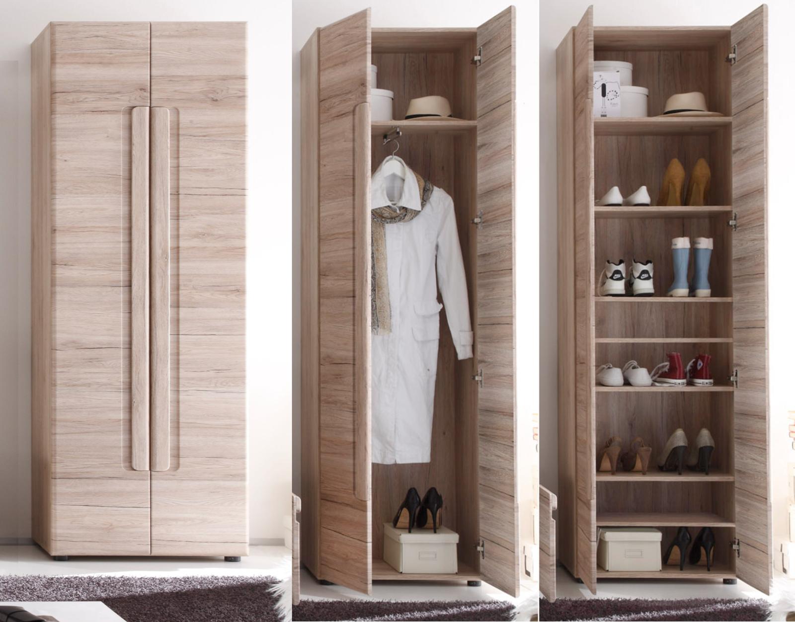 Garderobe malea eiche san remo g nstig kaufen for Garderobe 60 cm