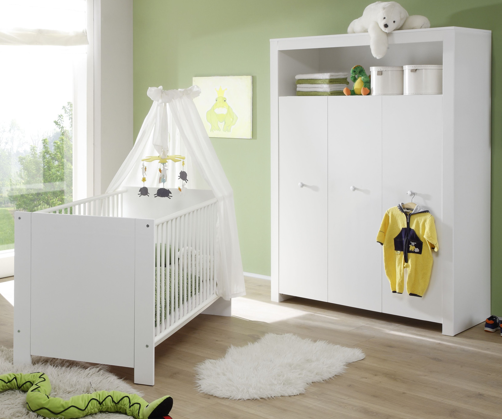 babyzimmer olivia 2 teilig wei design. Black Bedroom Furniture Sets. Home Design Ideas