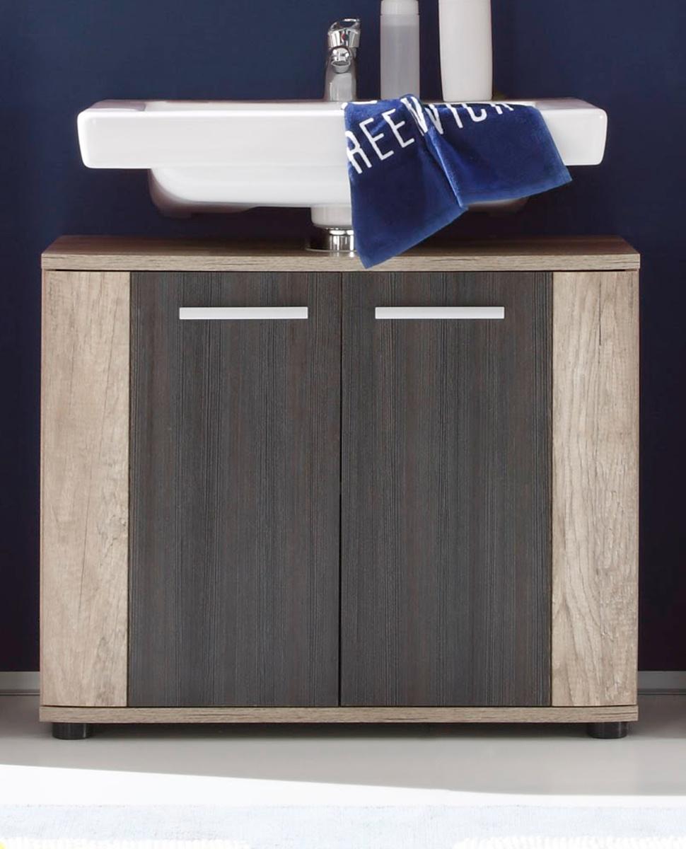 Badmöbel unterschrank  Badmöbel SUN Eiche hell / Touchwood dunkel kaufen