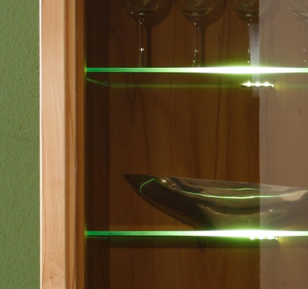 Wohnwand Zino Kernbuche Teil Massiv Schrankwand Mit Led Beleuchtung