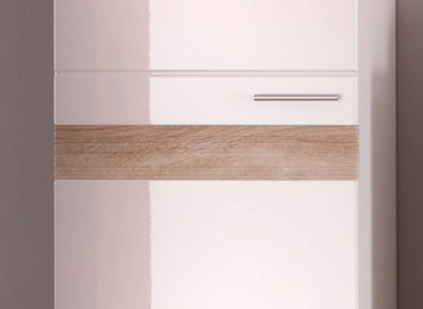 bad hochschrank badschrank wei hochglanz sonoma eiche badezimmer schrank mezzo ebay. Black Bedroom Furniture Sets. Home Design Ideas