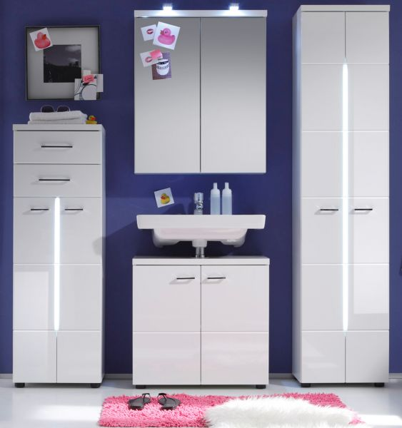 badm bel nightlife wei hochglanz g nstig kaufen. Black Bedroom Furniture Sets. Home Design Ideas