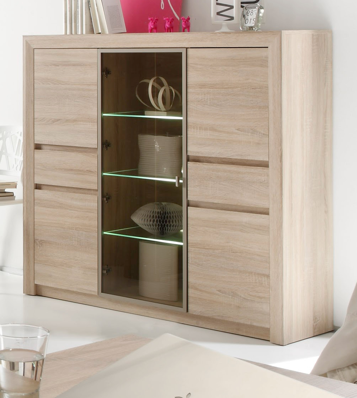 Highboard Sideboard Eiche Sonoma Hell