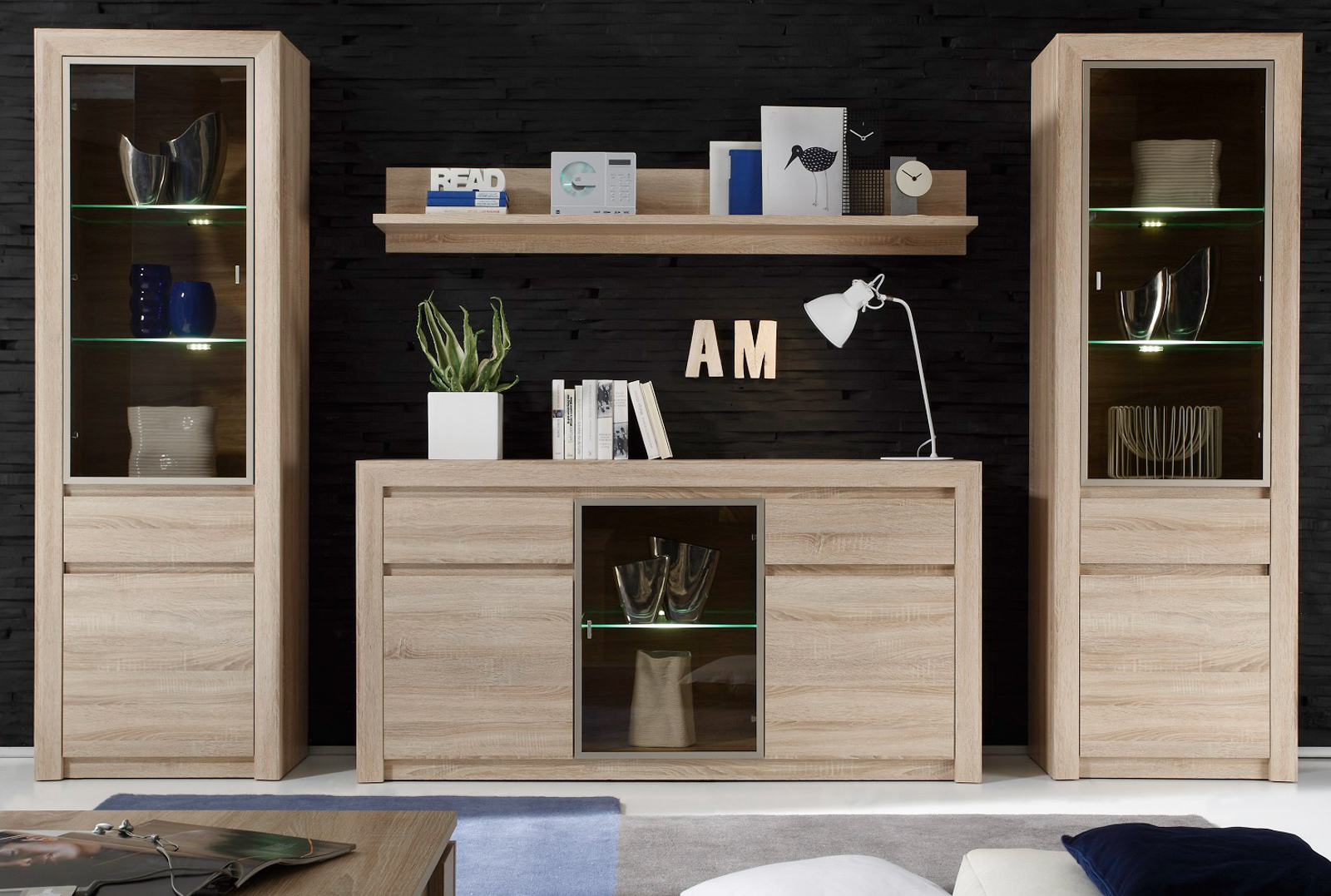 Anrichte eiche hell perfect sideboard modern in eiche for Anrichte eiche hell
