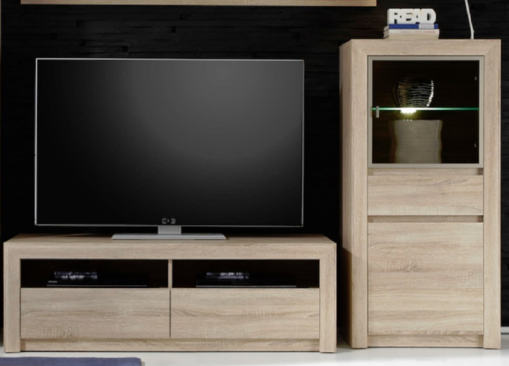 tv unterteil sevilla eiche sonoma hell. Black Bedroom Furniture Sets. Home Design Ideas
