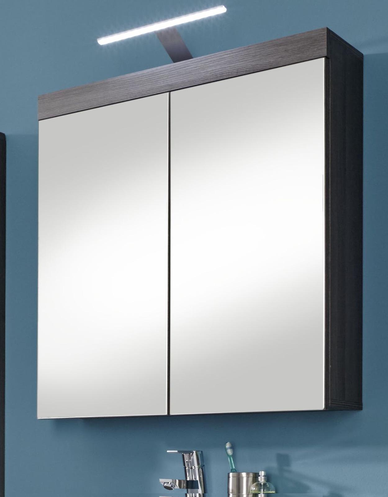 Badezimmerschrank günstig  Badmöbel Miami Silber/Grau günstig online kaufen