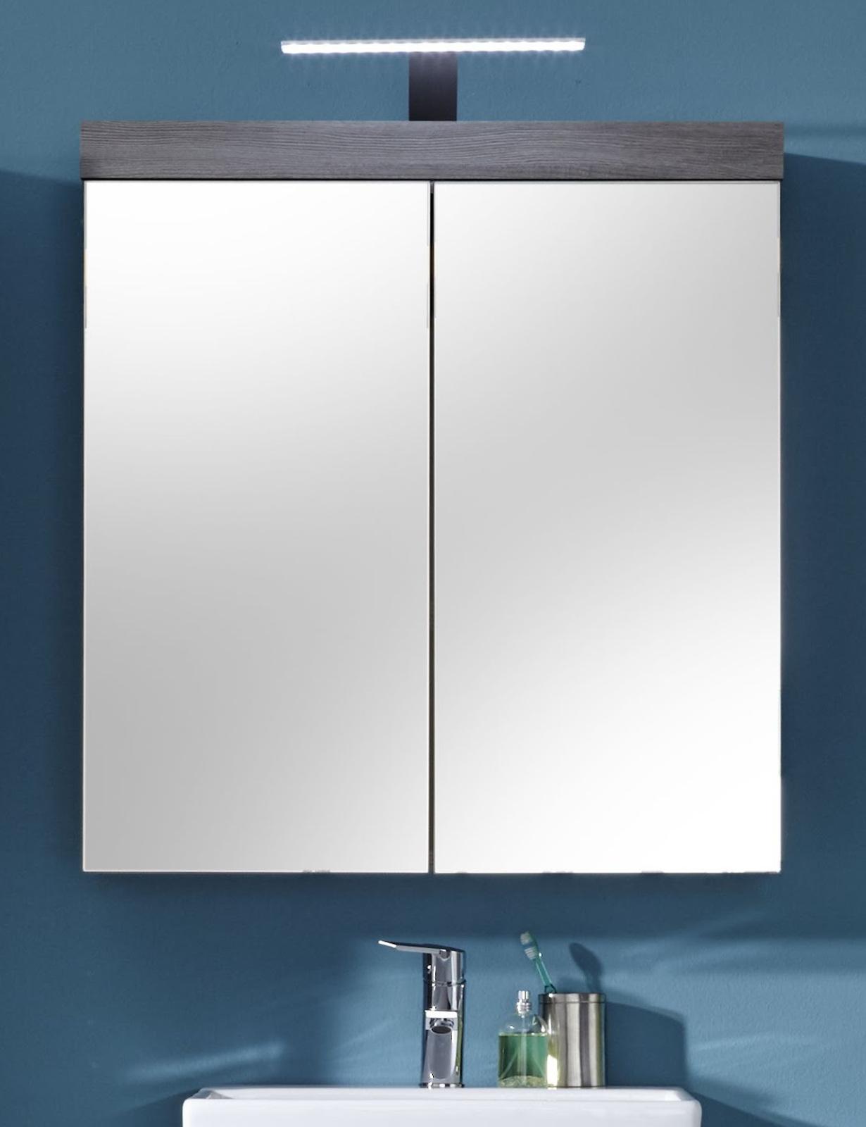 Badmöbel Miami Silber/Grau günstig online kaufen