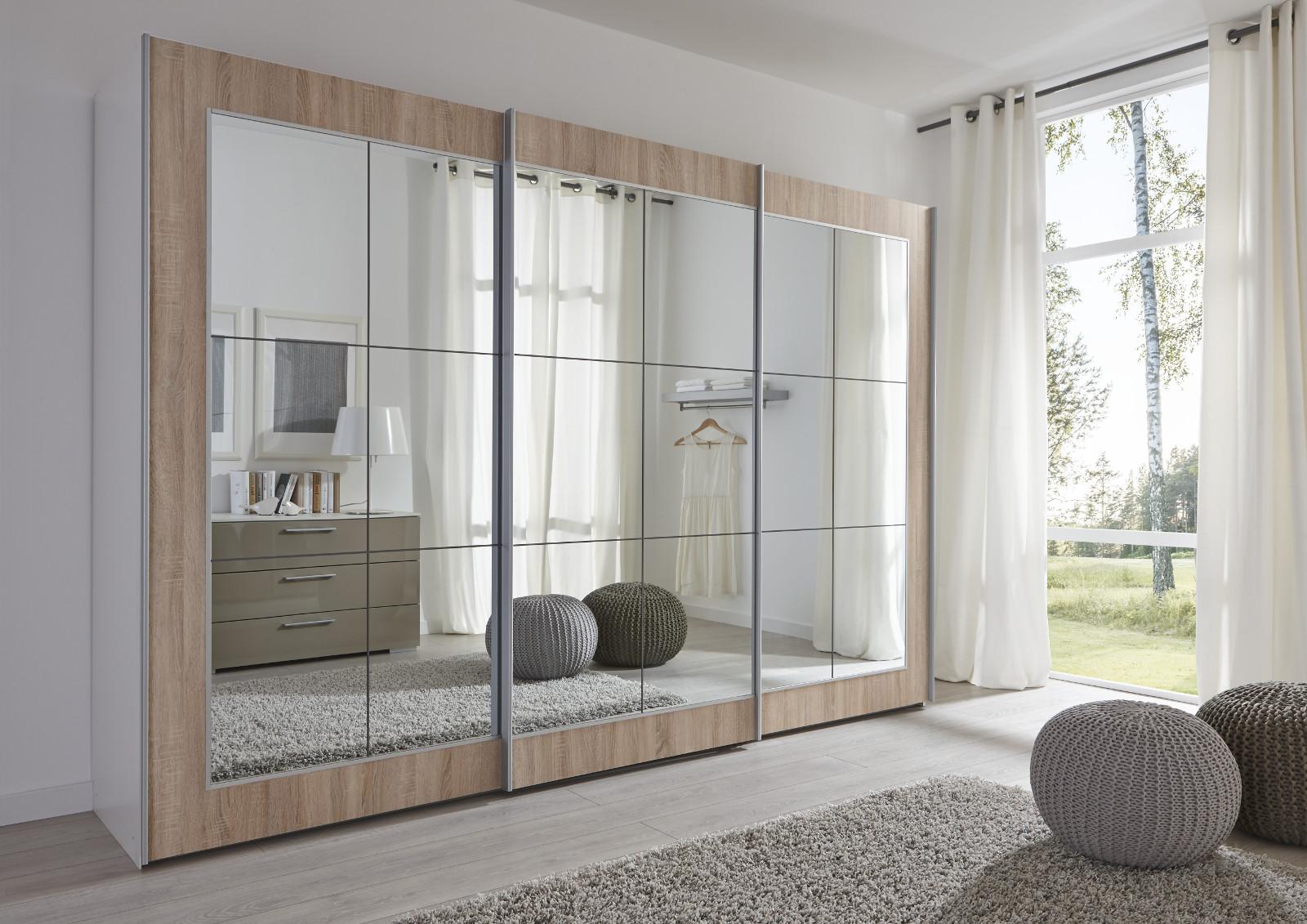 schwebet renschrank kleiderschrank eiche spiegel. Black Bedroom Furniture Sets. Home Design Ideas