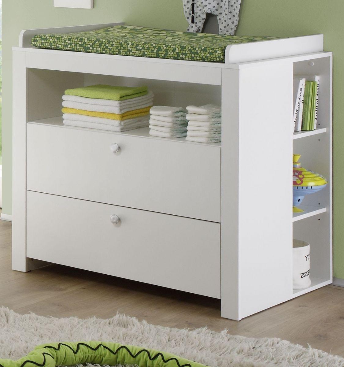 wickelkommode wei babyzimmer wickel tisch aufsatz 85x75 cm set mit regal olivia ebay. Black Bedroom Furniture Sets. Home Design Ideas