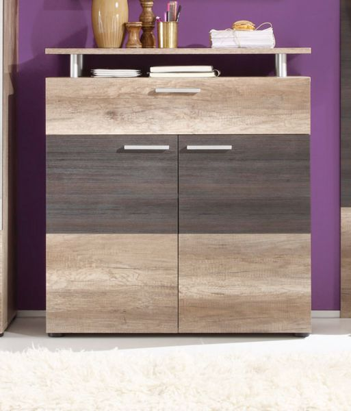 kommode schuhschrank flur schrank eiche canyon monument. Black Bedroom Furniture Sets. Home Design Ideas