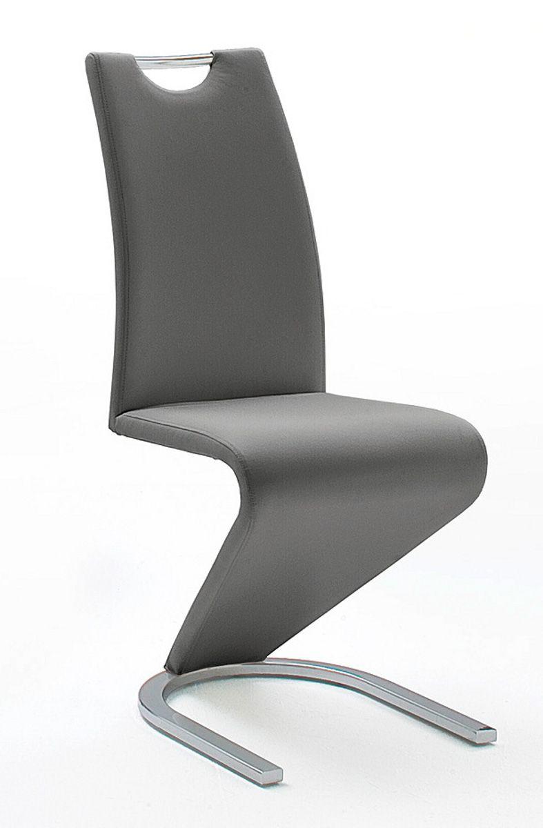 Stühle 2er-Set Amado grau Esszimmer Freischwinger | Küche und Esszimmer > Stühle und Hocker | MCA Furniture