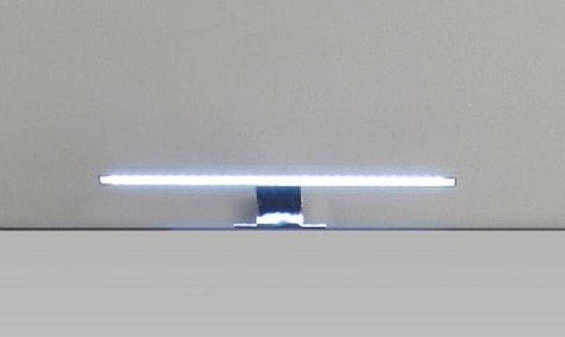 LED Spiegellampe Badlampe Gemo in Chrom für Spiegelschränke mit Schalter-/Steckdosenbox | Lampen > Badlampen | Trendteam