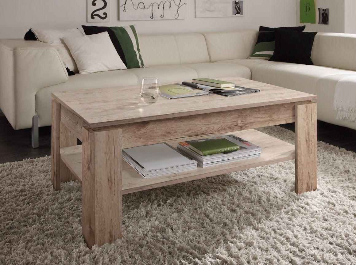 Couchtisch Wohnzimmer Tisch Eiche San Remo Ablageboden ...