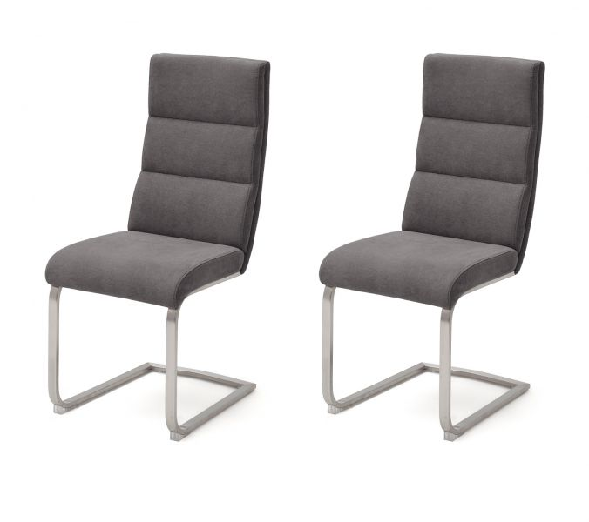 2 x Stuhl Giulia Anthrazit Schwinger
