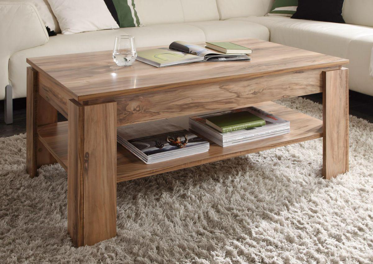 Couchtisch Beistelltisch Nussbaum Satin Wohnzimmer Holz