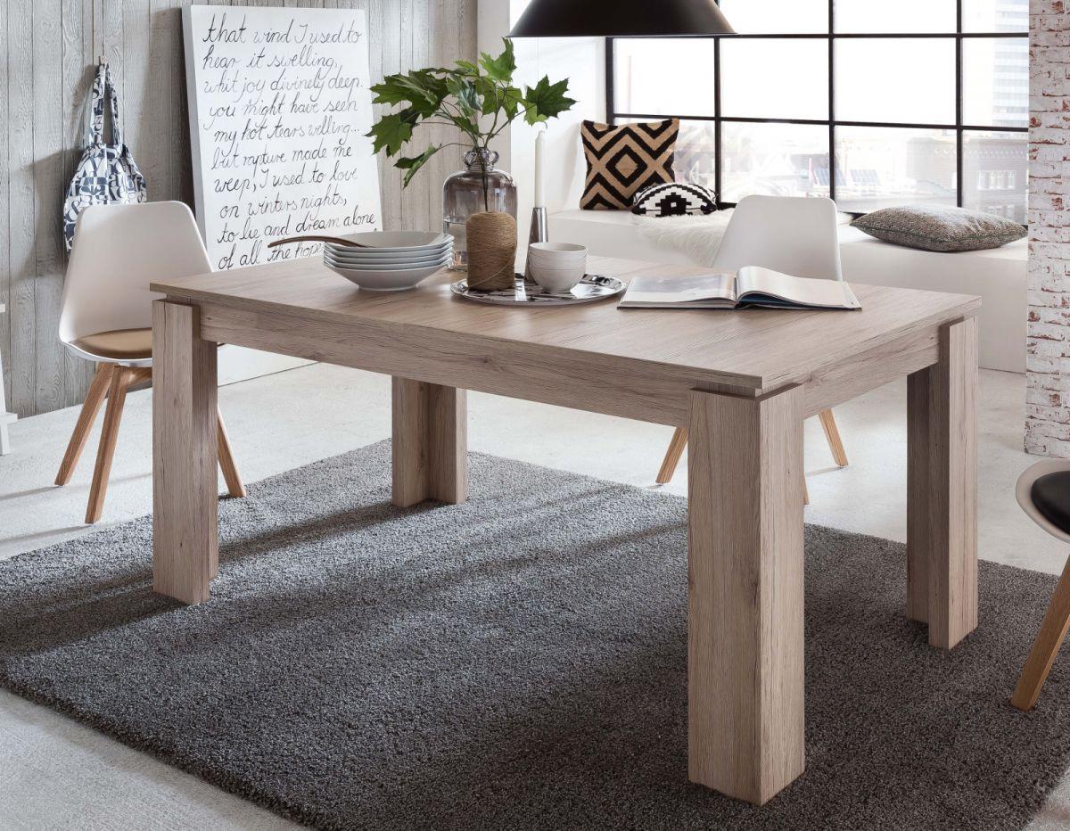 holztisch esszimmer, esstisch küchentisch eiche san remo holztisch ausziehbar 160 200, Design ideen