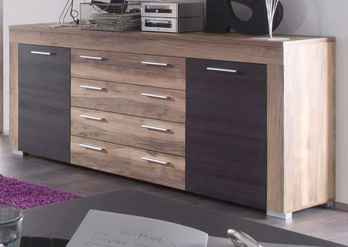 Details zu Sideboard Kommode Boom Nussbaum Touchwood Wohnzimmer Schrank  Esszimmer Anrichte