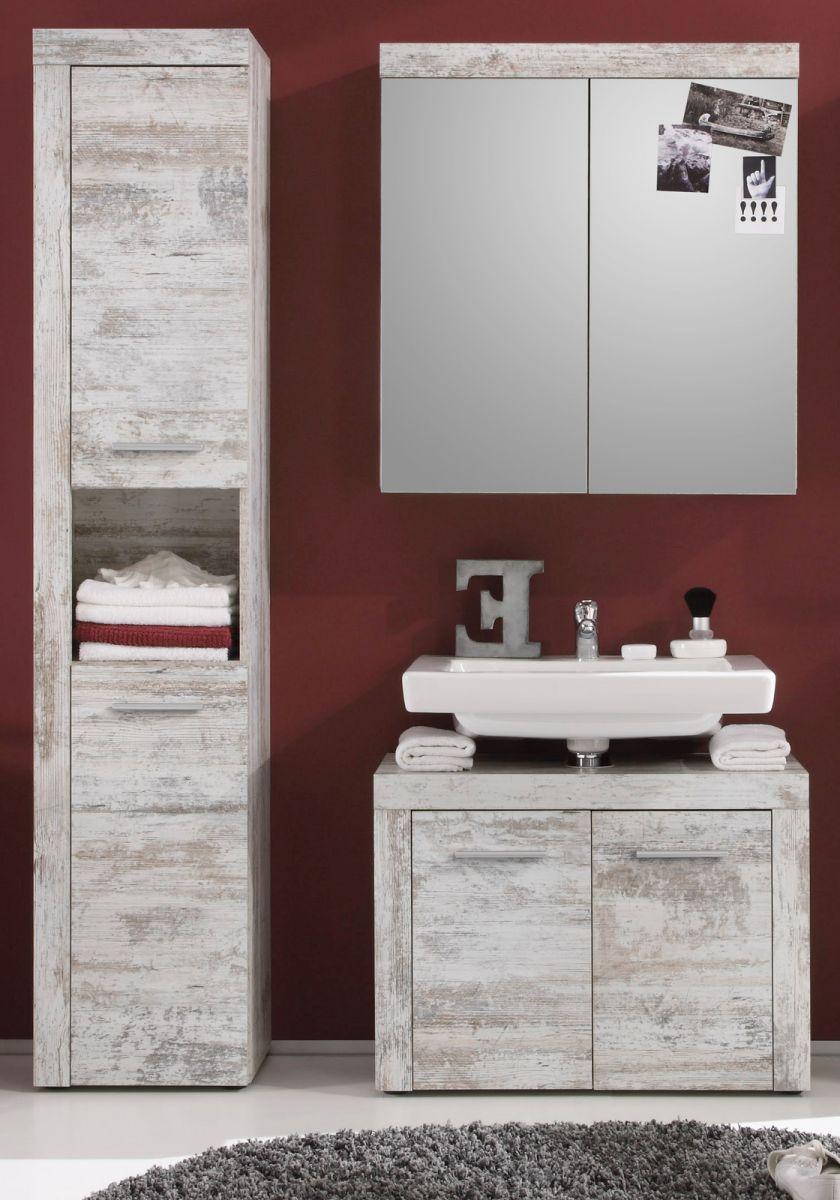 badm bel badezimmer set wei pinie shabby chic. Black Bedroom Furniture Sets. Home Design Ideas