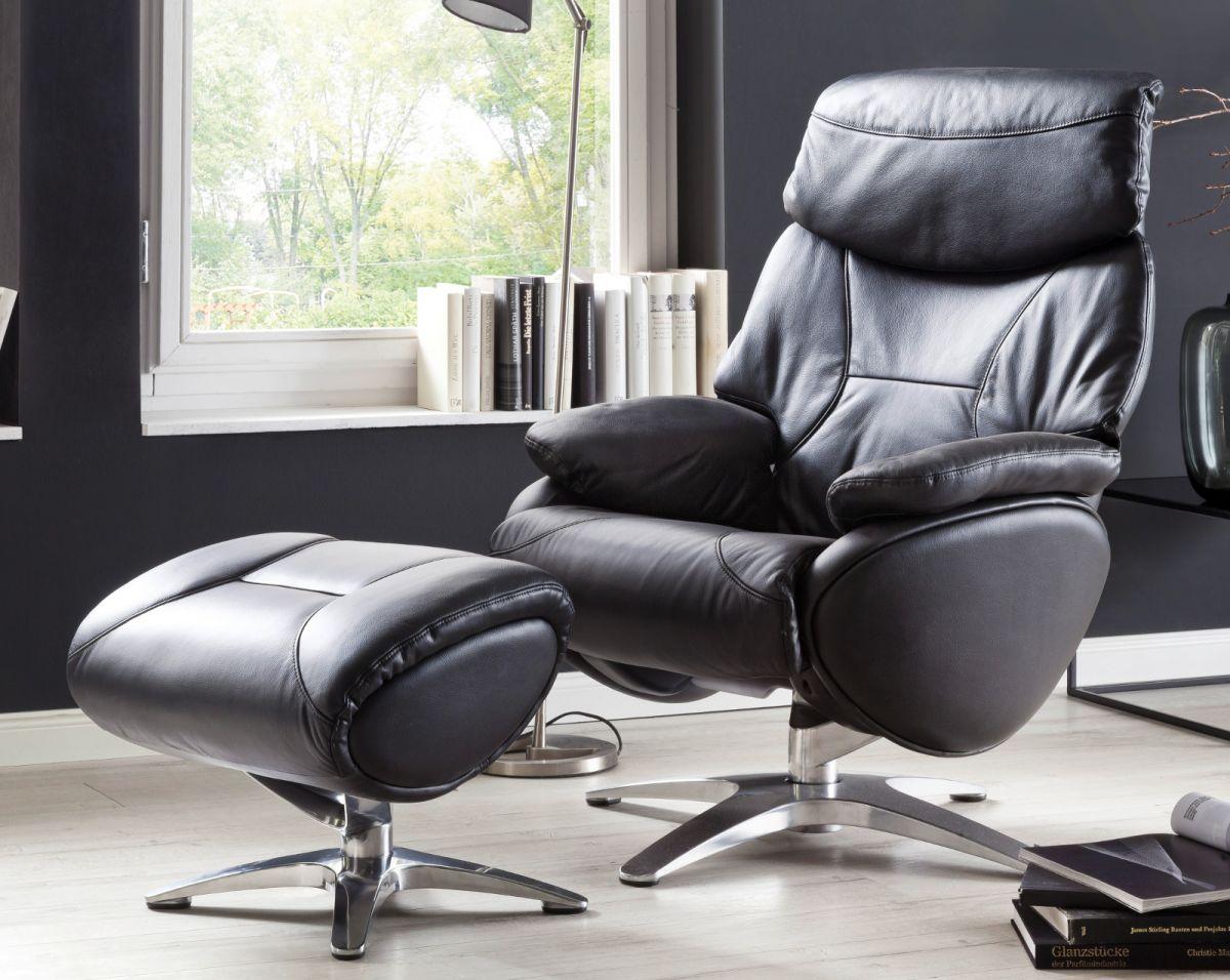 Relaxsessel Morley schwarz Leder | Wohnzimmer > Sessel | MCA Furniture
