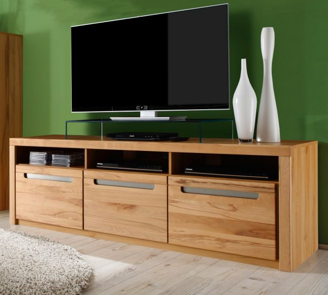 tv lowboard kern buche massiv fernseh tv tisch tv hifi m bel board zino 178 cm ebay. Black Bedroom Furniture Sets. Home Design Ideas