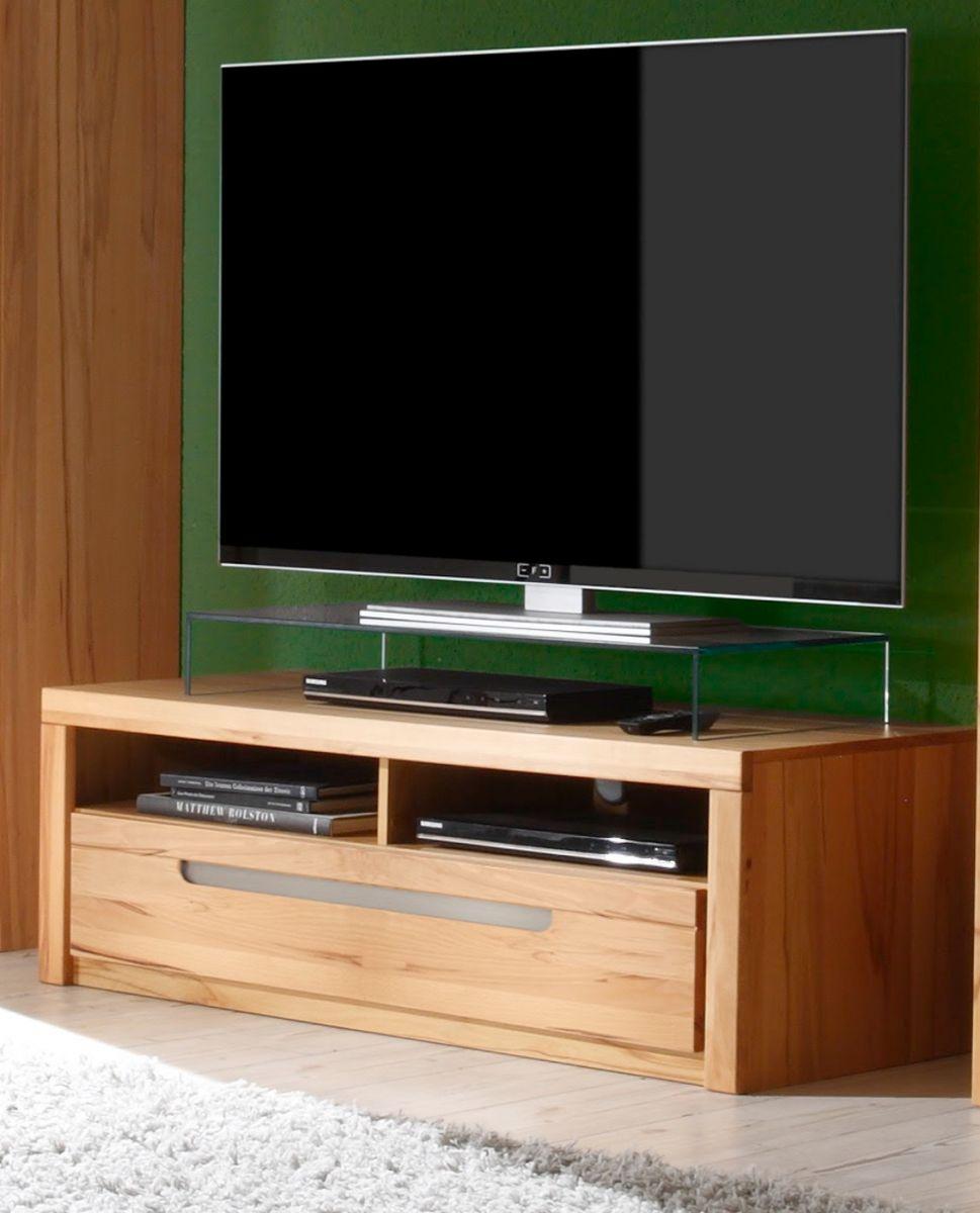 tv board lowboard kern buche massiv fernsehtisch tv tisch hifi zino massivholz ebay. Black Bedroom Furniture Sets. Home Design Ideas