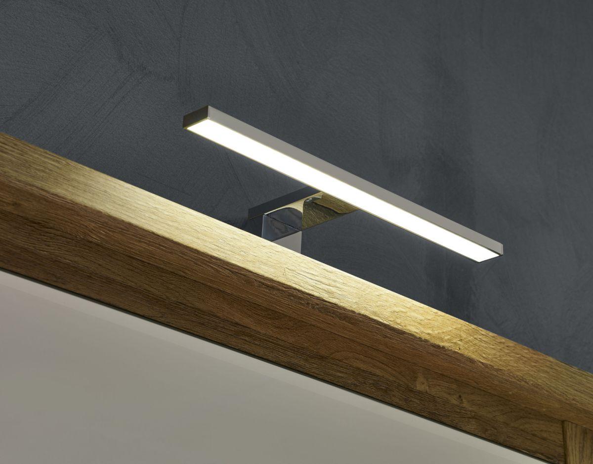 LED Spiegellampe Badlampe in Chrom für Spiegel Beach Campus Florida Miami Canyon | Lampen > Badlampen | trendteam