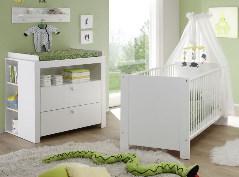 babyzimmer set olivia wei set 4 teilig babybett wickelkommode regal kaufen bei. Black Bedroom Furniture Sets. Home Design Ideas