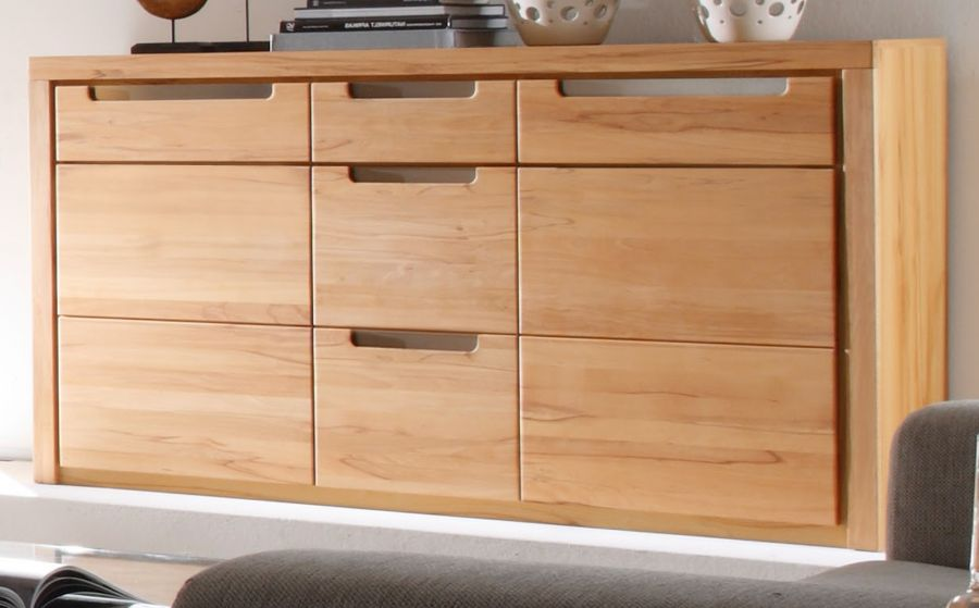sideboard kernbuche wohnzimmer kommode esszimmer anrichte buche teil massiv zino ebay. Black Bedroom Furniture Sets. Home Design Ideas