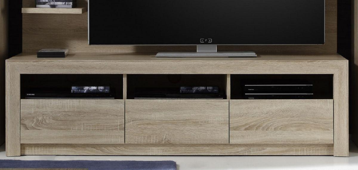 Wohnzimmer TV Lowboard Eiche Sonoma hell Fernsehtisch Unterteil ...
