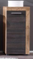 Bad Kommode Unterschrank Cancun Nussbaum Satin Touchwood dunkel 36 x 81 cm