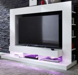 Mediawand TV Unterteil Cyneplex weiss glänzend 164 x 124 cm
