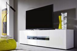 Lowboard TV-Unterteil Imola weiß Hochglanz lackiert 173 x 45 x 39 cm