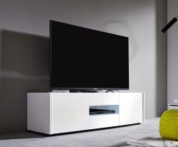 Lowboard TV-Unterteil Imola weiß Hochglanz lackiert 130 x 37 x 39 cm