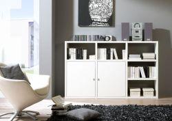 Sideboard Bücher-/Aktensideboard MDor Lack weiß matt