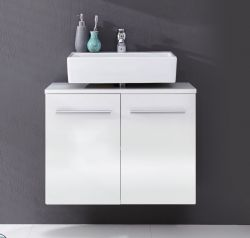 Waschbeckenunterschrank Xara Badmöbel hängend weiß glänzend 70 x 44 cm